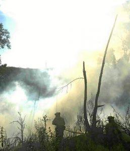 Incendio en El Granado