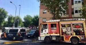 Incendio en calle Gonzalo de Berceo 1