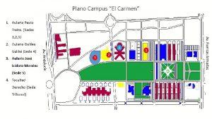 Plano Campus de El Carmen selectividad 2017.