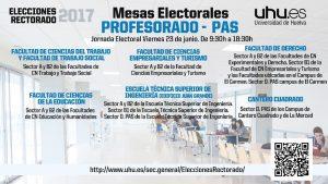 elecciones profesorado 23 junio