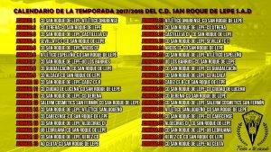 Calendario del San Roque de Lepe.