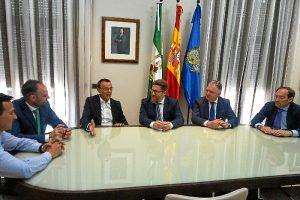 Reunión en la Diputación de Huelva.