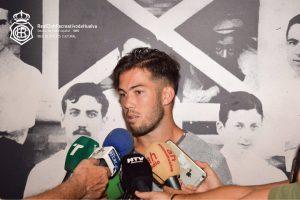 Santi Luque, nuevo jugador del Recreativo de Huelva.