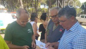 Delegado de Medio Ambiente en el incendio de Cartaya