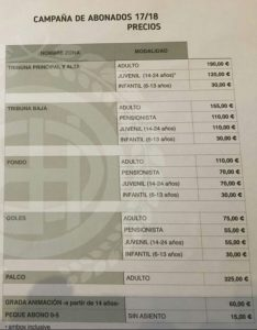 Campaña de abonos del Recreativo de Huelva 17/18.