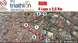 Mapa segmento carrera a pie
