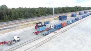 Terminal ferroviaria operando