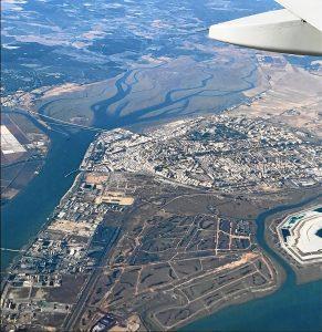 20171030-foto vuelo comercial sobre huelva-Francisco Montenegro y fosfoyesos