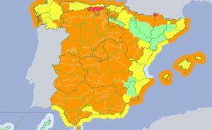 El aviso naranja es prácticamente para toda la Península.