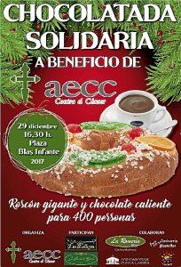 Festejos Navidad aecc chocolatada solidaria cartel