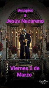 Besapiés al Nazareno