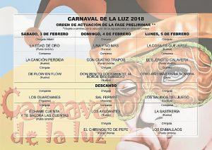 Festejos Carnaval Preliminares Orden