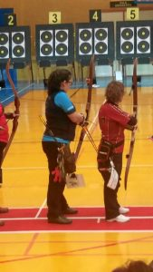Manuela Aquino durante la competición (1)
