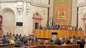 Pleno del Parlamento de Andalucía en el 28-F (2)