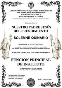 Quinario del Prendimiento en Huelva