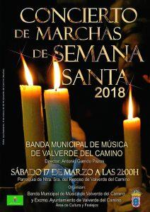 Cartel Concierto Semana Santa Valverde del Camino 2018