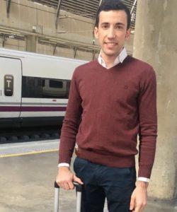 David de Miranda coge el tren para volver a Huelva.