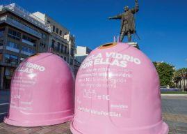 Contenedores rosas en la capital para 'Reciclar vidrio por ellas'