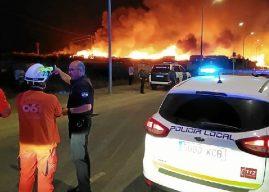 Otro incendio asola un asentamiento chabolista en Lepe