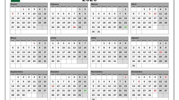 Calendario Laboral 2020.Calendario De Dias Festivos En Andalucia Para 2020