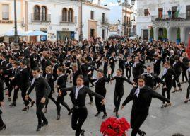 Flashmobe flamenco abre la Navidad Cultural en Cartaya