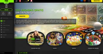 Página de inicio del casino online 888casino