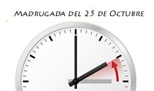 Cambio de hora el próximo 25 de octubre